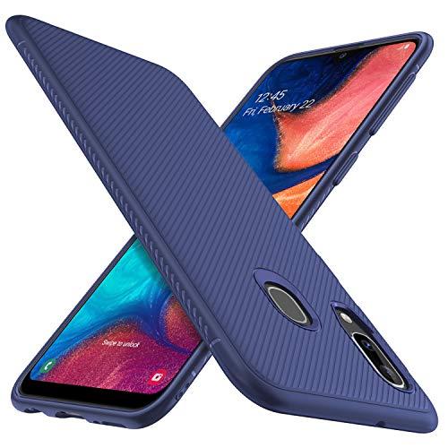 iBetter für Samsung Galaxy A20e Hülle, Ultra Thin Tasche Cover Silikon Handyhülle Stoßfest Case Schutzhülle Shock Absorption Backcover Hüllen passt für Samsung Galaxy A20e Smartphone (Blau)