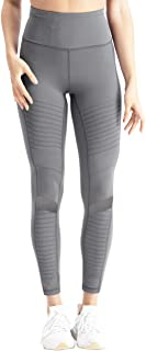 coastal rose Women's High Waist Yoga Pants Ankle Moto Leggings Workout Tights