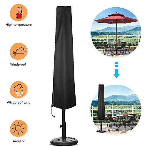 ASANMU Schutzhülle für Sonnenschirm, 2M Ampelschirm Schutzhülle, Sonnenschirm Abdeckhauben Sonnenschirmhülle, Universalabdeckung zum Schutz für Gartenschirm Gartenmöbel, Reißfest/Wasserdicht/UV-Anti
