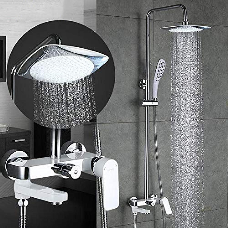 MICHEN Duscharmaturen Regendusche Set Wandmontage Bad Mischbatterie Dusche Badewanne Wasserfall Badewanne Wasserhahn,GA2448