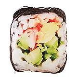 changshuo Juguete de Peluche 2 Piezas De Simulación De Peluche De Juguete De Sushi Muñeca De Peluche Creativa Comida Japonesa Almohada Cojín Tienda Decoración del Hogar Regalo Divertido Triver Drop