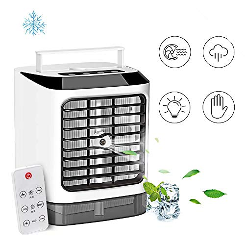 YLLXX Swamp Cooler-arctic air ultra,small portable air conditioner 3 Fan Speeds, Evaporative Cooler,Purifier,Humidifier,Mobile Desk Cooling Fan for Office Home Outdoor arctic air
