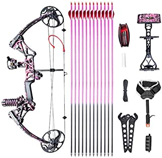 XGeek Womens Compound Bow,with Hunting Accessories,CNC Milling Bow Riser,USA Gordon Composites Limb,BCY String,19