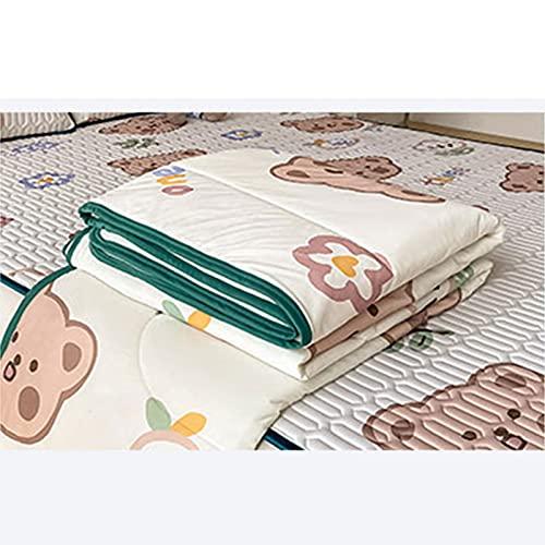 FACAI Cool Feeling Silk Tencel Summer Cool Látex Pad Aire Acondicionado Cojín Látex Alfombra de Piso Alfombra de Enfriamiento,Quilt:150x200cm