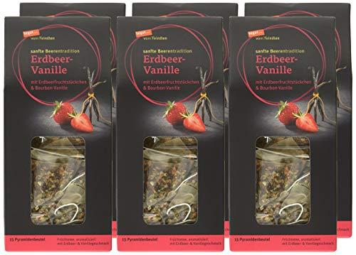 tegut... vom Feinsten Erdbeer-Vanille Teebeutel, 6er Pack (6 x 56 g)
