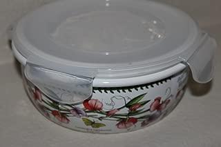 Portmeirion Botanic Garden Round Ceramic Storage Jar with Locking Lid, 5 Inch