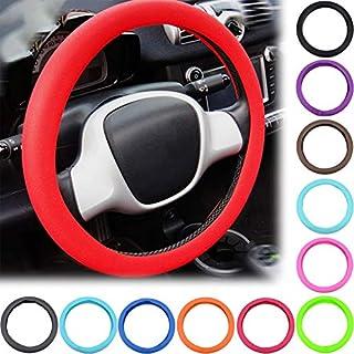 Coprivolante Copertura Di Volante Universale,Auto Accessori Pelle Microfibra 38cm//15in colore : C-38cm