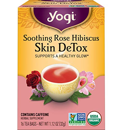 Yogi Tea - Soothing Rose Hibiscus Skin DeTox (6 Pack) - Supports a Healthy Glow - 96 Tea Bags