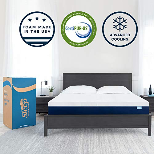 Sleep Innovations Marley 12-inch Cooling Gel Memory Foam Mattress Bed in a Box, Made in The USA, 10-Year Warranty, King,...