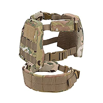 YASHALY Chest Rig for Kids, Mini Tactical Vest with Patrol Loading Bearing Belt Assault Molle Combat Children WST Military Protective Gear for WG Game Party (CP, S)