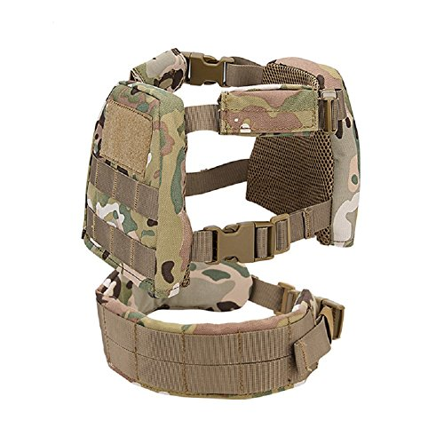 YASHALY Chest Rig for Kids, Mini Tactical Vest with Patrol Belt WST for WG Game
