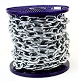 Cadena de acero galvanizado en caliente, fuerte y resistente, disponible el carrete completo y longitud de corte personalizado