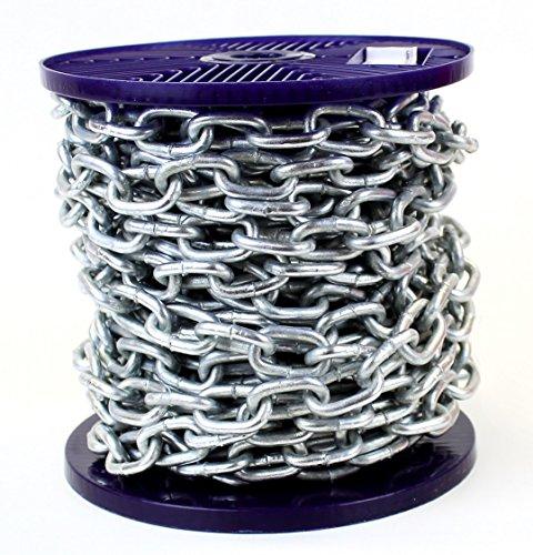 Cadena de acero resistente galvanizado sumergida en caliente, carrete completo y longitudes de corte personalizadas disponibles