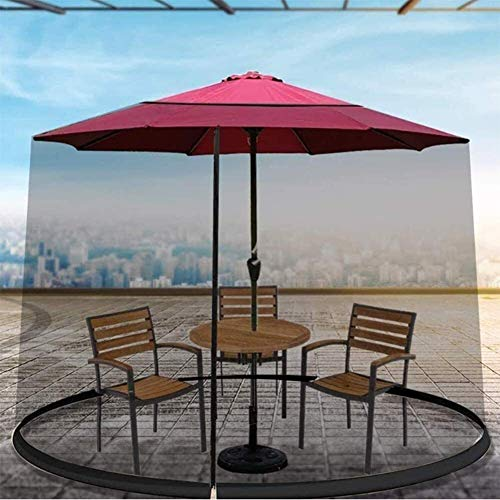 YLJYJ Sombrilla de jardín al Aire Libre Tu sombrilla en una glorieta Mosquitera para sombrilla, Sombrilla de jardín Sombrilla de Sol Mesa Mosquito (mosquitera)