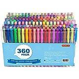 360 Pack Gel Pens Set, Shuttle Art 180 Colors Gel Pen Set Plus...