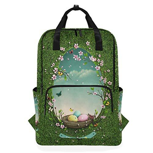 Rucksack Grünland Spiegel Schultaschen Casual Canvas Multifunktions Daypack Rucksack Laptoptasche für Studenten Mädchen Jungen Mann Frau