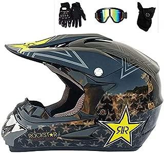 schwarz GG-helmet Full Face MTB Helm Motocross Motorrad f/ür Erwachsene Offroad Helm Set Motorrad Downhill Sturzhelm Schutzausr/üstung mit Schutzbrille Handschuhe Maske Helmnetz S, M, L, XL