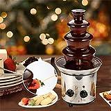 Edelstahl Schokoladenbrunnen, Schokobrunnen | Schokofontäne | Fondue | Schokofondue für Jede Schokolade und Karamell mit Schmelz-und Fließfunktion, 170 Watt - 3