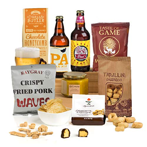 Hay Hampers Best Dad - Fun Pun Dad's Beer & Nibbles Father's Day Hamper Gift For Men