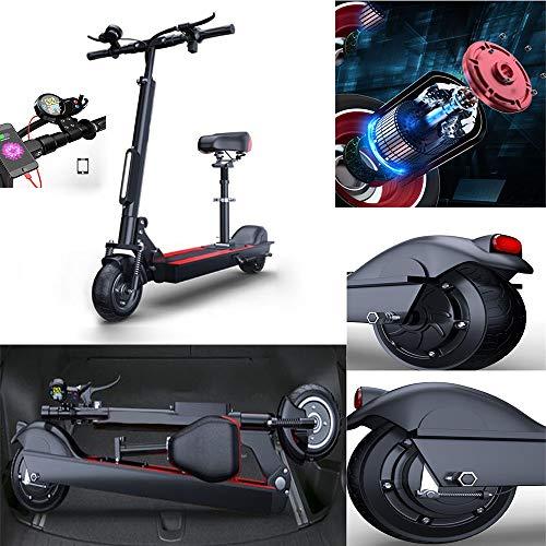 WXH Mini Scooter eléctrico, con Asientos y manillares Plegables Off Road Scooter, Super Power Crazy Design, Neumáticos neumáticos de 8 Pulgadas, Capacidad de Carga Fuerte