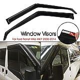 Ramdapro Par de parasoles deflectores de Viento para Ventanas de Coche para Ford Transit MK6 MK7 2000-2014