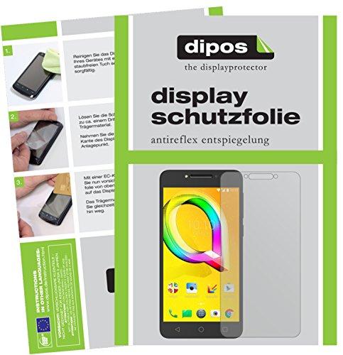 dipos I 6X Schutzfolie matt kompatibel mit Alcatel A5 LED Folie Bildschirmschutzfolie