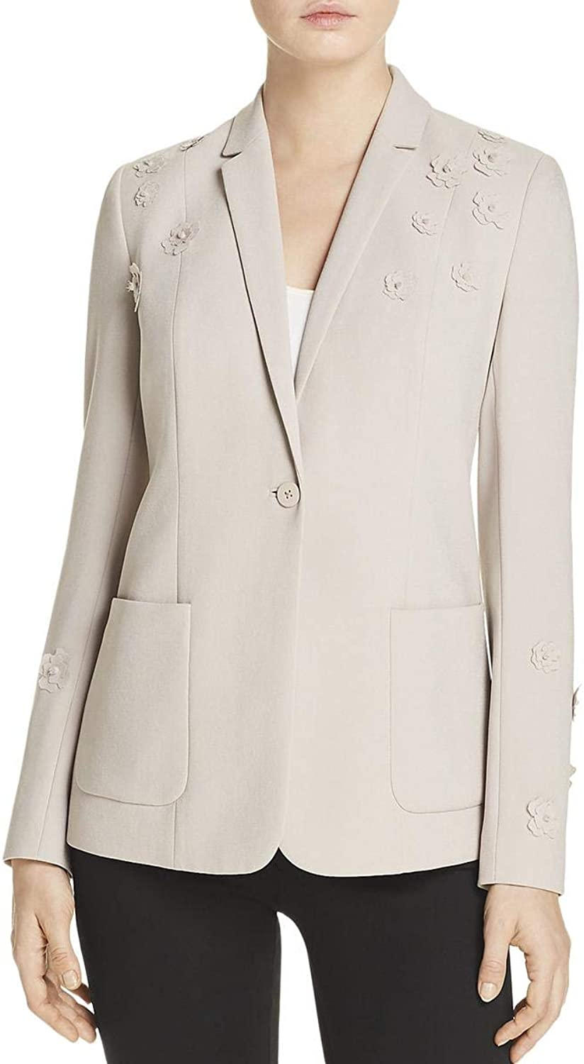 Elie Tahari Womens Wendy Office Wear Business Attire OneButton Blazer