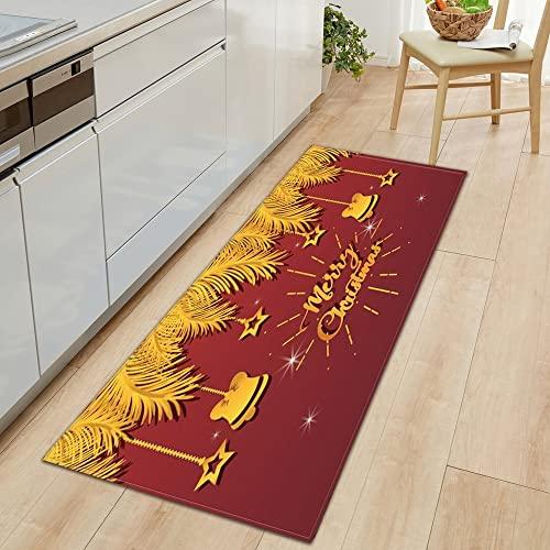 Decorazioni natalizie Tappetino per cucina Ingresso domestico Zerbino Corridoio Tappeto antiscivolo Tappeto da bagno con acqua NO.3 50X80 cm