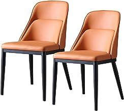 Nowoczesne krzesło do jadalni z metalową stopą, 2 szt. Krzesło do salonu | Salon klubowy bez podłokietników Krzesła do kuc...