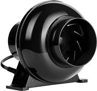 VIVOHOME 4 Inch 195CFM Plastic Round Exhaust Inline Duct Fan for Hydroponics Grow Tent Ventilation