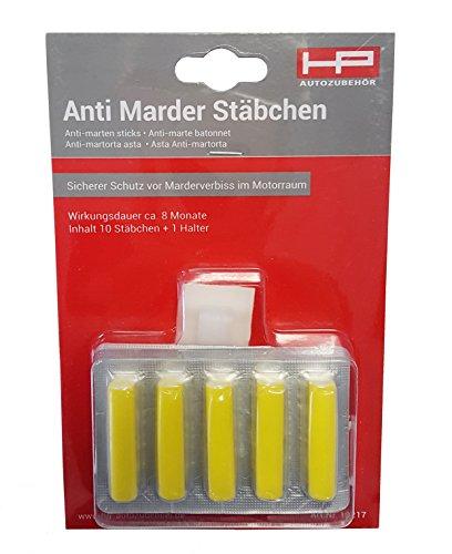 HP-Autozubehör 10217 Anti-Marder Stäbchen 10 Stück - Schutz 7-8 Monate