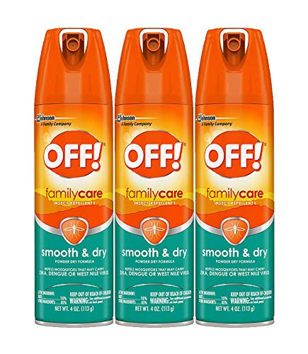 Off! Family Care Smooth & Dry Insect Spray, 4 oz (Pack - 3),White