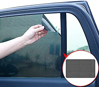 4 Pieces PVC Car Side Window Sunshades Electrostatic Sticker Sunscreen Film Stickers Cover Automobiles Accessories (M)63*42cm