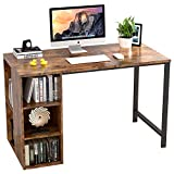 IRONCK Computer Desk 47' with 5 Shelves Storage, Industrial PC Laptop Office Desk, Metal and Wood Study Writing Table for Home Office, Easy Assembly