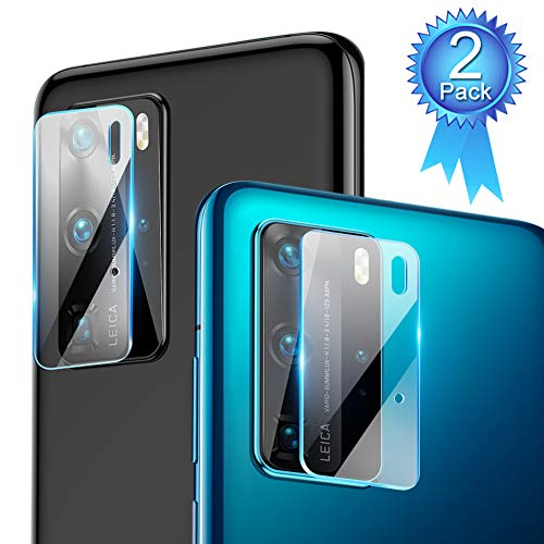[2 Packs] Camera Lens Protector for Huawei P40 Pro [Anti-Shatter] OMYFILM Huawei P40 Pro Camera Lens Tempered Glass [HD Clear] Camera Glass Protector for Huawei P40 Pro