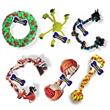 BEST DOGTOY FOR YOUR PUPPY – Your puppy will love this toy and play with joy OUTSTANDING AND PREMIUM QUALITY – These chew toys are made of thick and tight cotton ropes which are non-toxic and durable, absolutely safe for your dogs. Large size rope to...