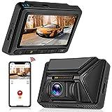 Oasser Caméra de Voiture GPS WiFi Dashcam Voiture UHD 2160P à Grand Angle Caméra Voiture Embarquée avec Supercondensateur...