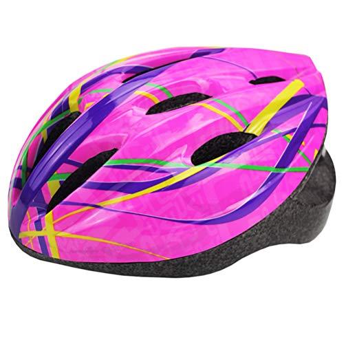 Fyeep Cascos Infantiles, Ajustable y Seguro Casco de Bicicleta MTB Skateboarding para...
