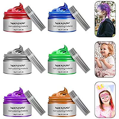 Temporary Hair Color Wax 4.23 oz-Instant Hairstyle Cream Hair Pomades Hairstyle Wax for Party Cosplay Easy Cleaning