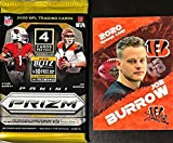 2020 Panini PRIZM Authentic Factory SEALED Football PACK - Try for VALUABLE Justin Herbert and Joe Burrow SILVER Prizm Rookie Cards - Plus Novelty Joe Burrow Card Shown!