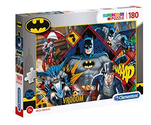 Clementoni 29108 Batman 180 Teile Supercolor Puzzle, für Kinder ab 7 Jahre