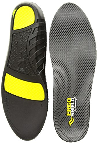 Powerstep unisex adult Ergoshield Work Plus Insoles Insole, Black, Men s 11-12.5 Regular US