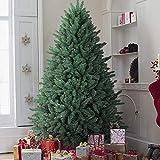 OasisCraft Christmas Tree 7ft Premium Hinged Blue Spruce Artificial Christmas Tree, Full Xmas Tree Unlit