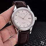 クラシック腕時計メンズローズゴールド自動機械式904 lステンレス鋼Eta 2824ムーブメントダイヤモンドローマブラックレザー時計白