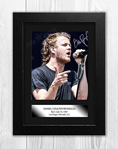 Dan Reynolds of Imagine Dragons Poster Signed Autograph Reproduction Photo A4 Print (Black Frame)