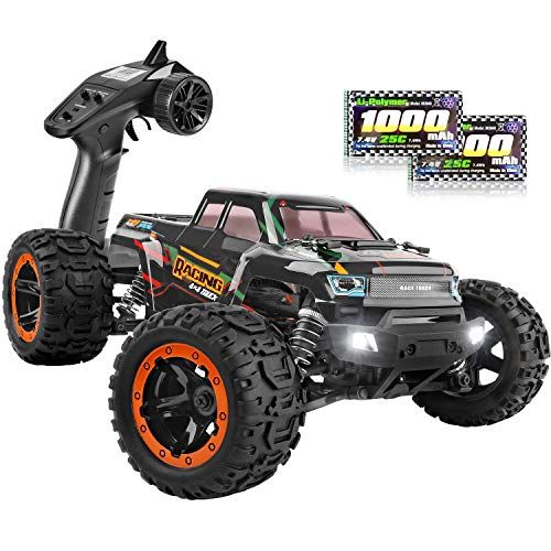 HAIBOXING Remote Control Car 16889, 1:16 Scale 2.4Ghz RC Cars 4x4 Off Road Trucks, Waterproof RTR RC Monster Truck 36KM/H, Remote Controlled Toys for Kids and Adults with 2 Batteries 35+ mins Play
