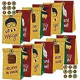 Miotlsy Harry Potter Bolsas de Regalo 12pcs Bolsa de Fiesta Mago Tema Suministros para Fiesta Papel Regalo Bolsa Bolsas de Papel de Caramelos con Pegatina Bolsas para Chuches para Niños