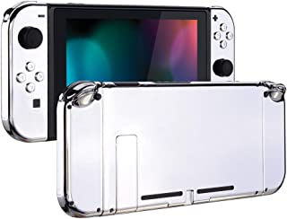 eXtremeRate Back Plate for Nintendo Switch Console, NS Joycon Handheld Controller Housing with Full Set Buttons, DIY Repla...