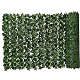 Siepe Artificiale Green Leaf Faux Ivy Recinto Privacy Parete Pianta Falsa Sfondo Erba Decorativo Per Esterna Del Giardino Balcone 0.5x1m Decorazioni Del Giardino