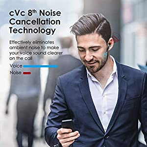 Wireless Earbuds | Boltune Bluetooth 5.0 Headphones | in-Ear Detection | AptX Deep Bass | CVC 8.0 Noise Cancellation | IPX8 Waterproof | Touch Control | with 2 Mics | USB-C Quick Charge 42h Playtime